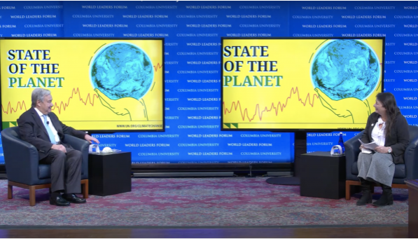 A Case for Global Climate Action: U.N. Secretary General Delivers Potent Remarks at Columbia